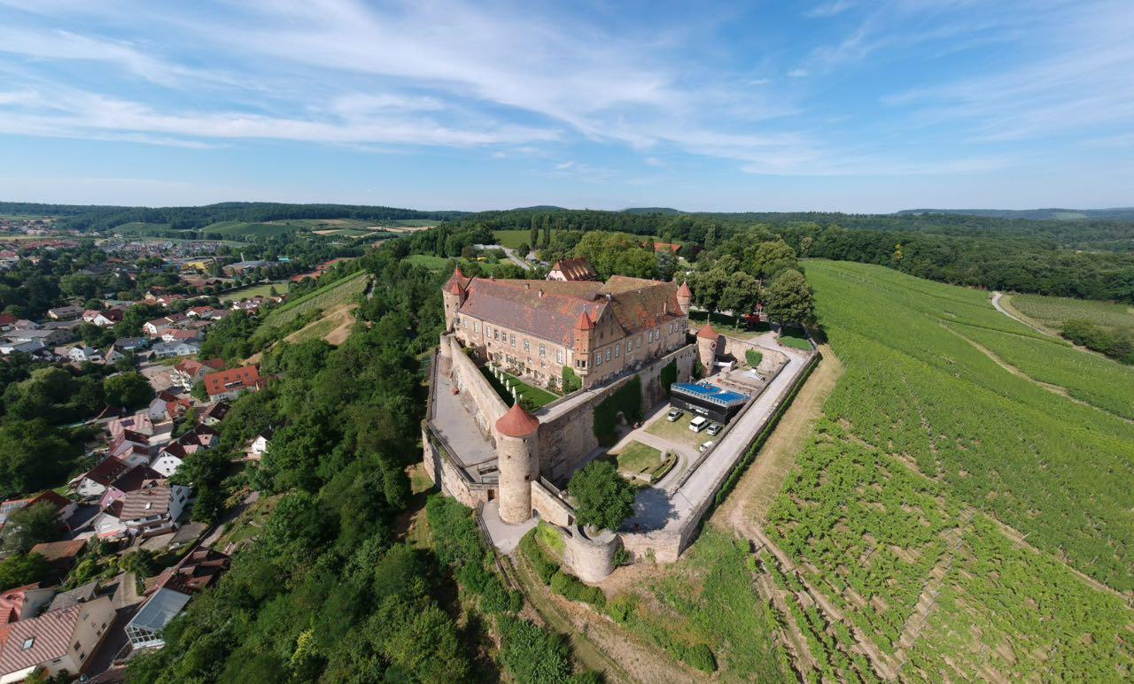 Burg Stettenfels Luftaufnahme