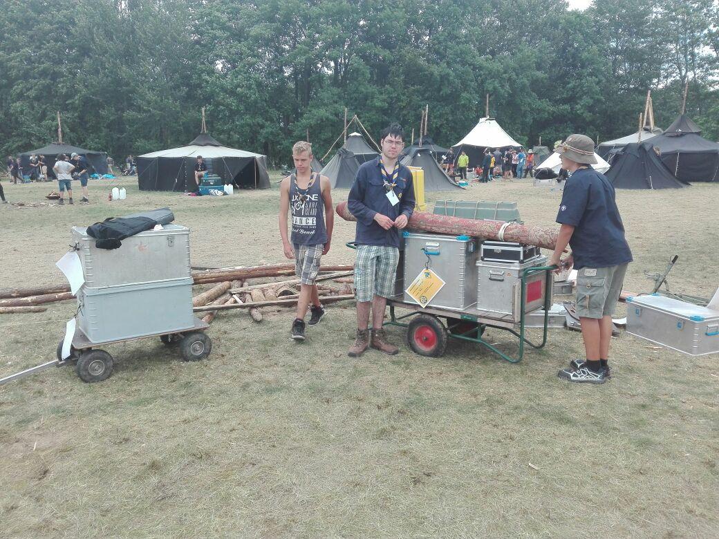 Stamm Stettenfels auf dem Lager
